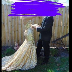 Gold/Champagne Prom Dress!